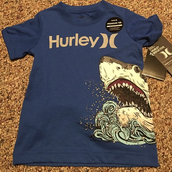99ba78262f New Hurley Boys Shark T-Shirt Reflective Blue NWT